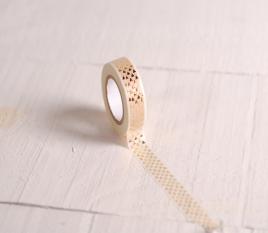 Washi tape blanco con triángulos dorados