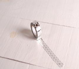 Washi tape de lunares plata