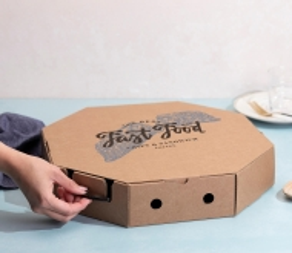 Take away box for paellas