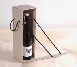 Scatola bottiglia con coperchio