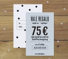 Tarjeta regalo SelfPackaging 75 €